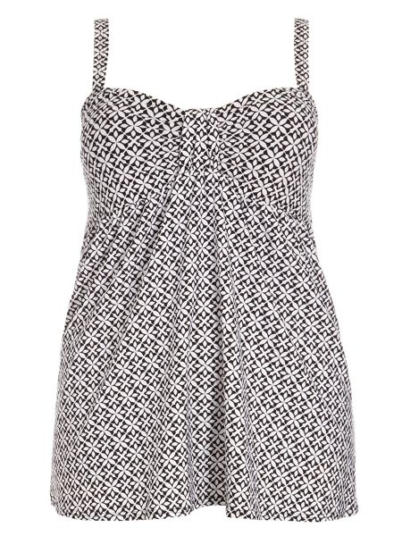 Evans Geo Tile Print Swimdress