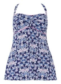 Evans Blue Paisley Print Swimdress