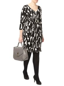 Geo Print Pocket Dress