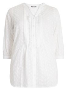 Evans Ivory Embroidered Top