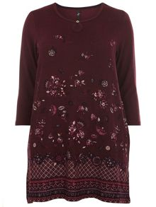 Evans Berry Floral Tunic