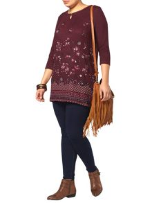 Berry Floral Tunic