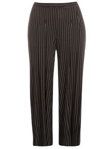Evans Monochrome Striped Palazzo Trouser