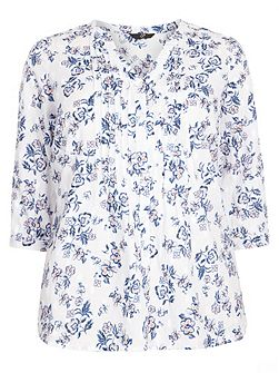 Ivory Floral Shirt