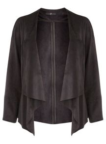 Evans Black Suedette Jacket