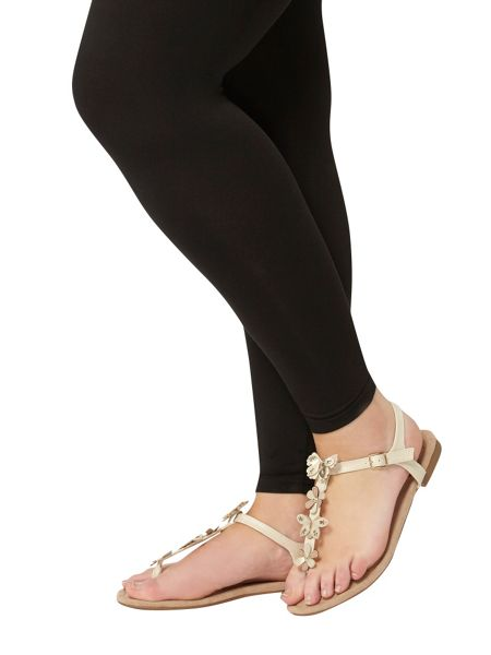 Evans Extra Wide Fit Nude Toe Post Sandal