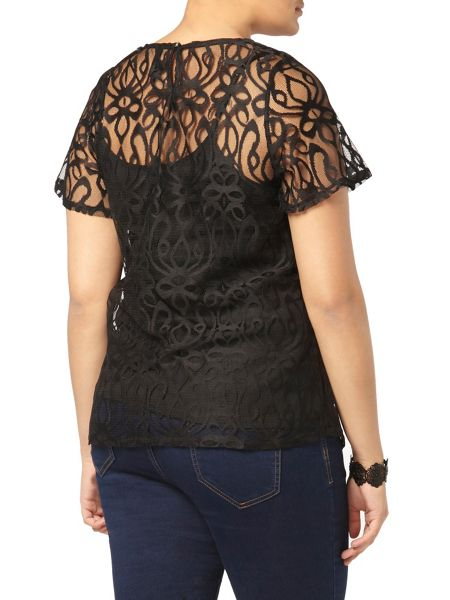 Evans Black Lace Top