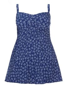 Evans Navy Shell Print Swimdress