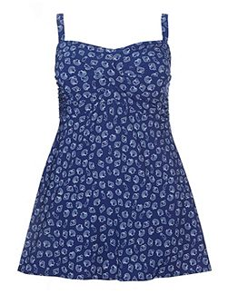 Navy Shell Print Swimdress