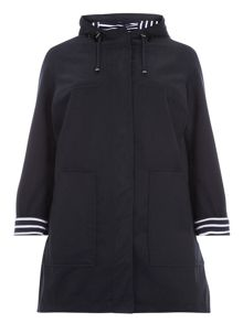 Evans Navy Cotton A Line Mac