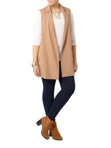 Evans Camel Sleeveless Jacket