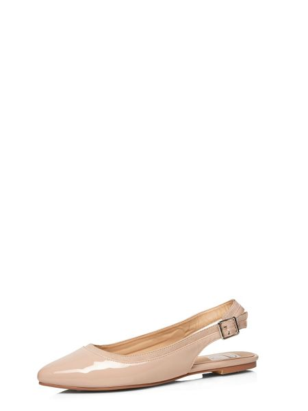 Evans Extra Wide Fit Nude Slingback Shoe