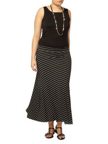 Evans Monochrome Striped Skirt