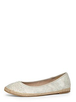 Extra wide fit silver espadrille