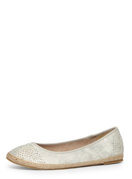 Evans Extra wide fit silver espadrille