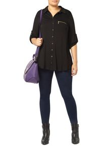 Black Zip Pocket Shirt