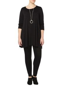 Evans Black Side Pocket Jersey Tunic