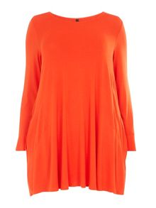 Evans Orange Pocket Tunic