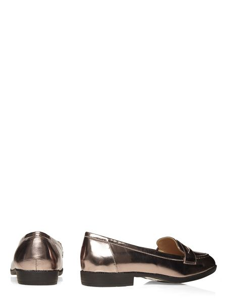 Evans Extra Wide Fit Pewter Patent Loafer