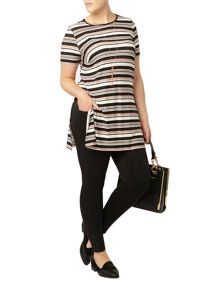 Evans Stripe Side Split Tunic