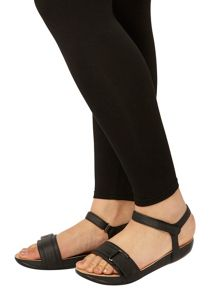 Evans Extra Wide Fit Black Adjustable Sandal