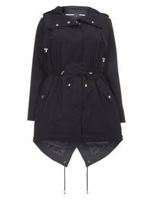 Evans Navy Cotton Poplin Parka
