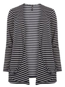 Evans Navy Stripe Cardigan