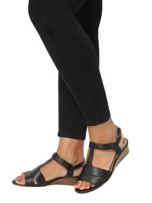 Evans Extra Wide Fit Black Wedges