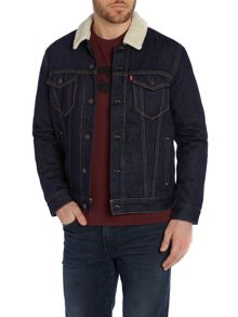 Fleece lined juniper rinse sherpa jacket