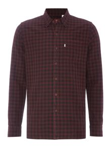 Regular fit 1 pocket plaid shirt