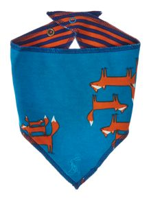 Boys Fox Print Reversible Bib