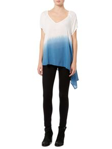 Label Lab Asymmetric dip dye blouse