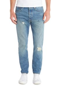 501® CT red church distressed jean