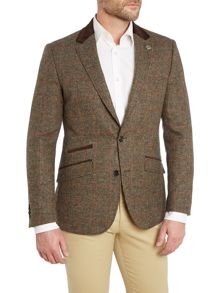 Simon Carter Orange Check Jacket