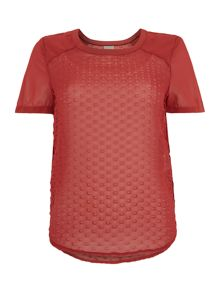 Vero Moda Short Sleeved Dot Detail Top