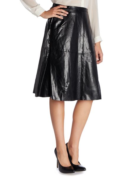Vince Camuto Midi pleather a-line skirt