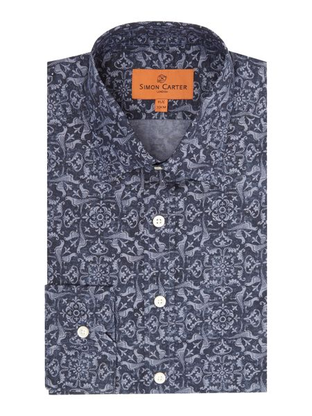 Simon Carter Bird Swirl Print Shirt