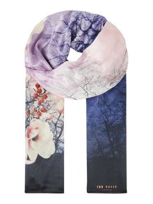 Ted Baker Misty mountains silk long scarf
