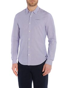 Scotch & Soda Crispy poplin shirt with fixed pochet