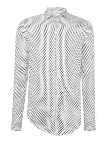 Printed polka dots dress shirt