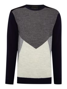 Scotch & Soda Pullover with knitted panels