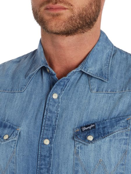 Wrangler Regular fit denim western shirt