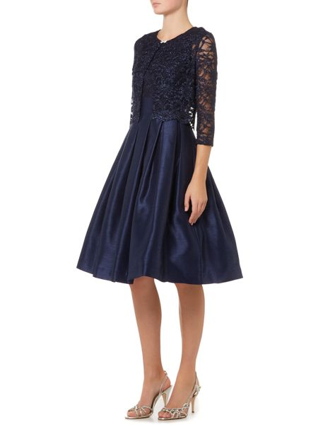 Eliza J Two piece with fit and flare skirt