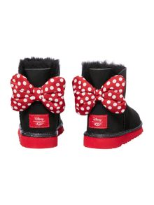 Mini Mouse bootie with spotty bow back