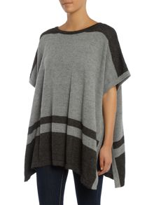 Vince Camuto Engineered striped poncho