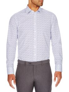 Simon Carter Navy Dot Shirt