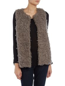 Vince Camuto Faux fur sleeveless gilet