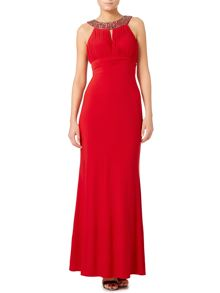Crystal Neck Halter Dress