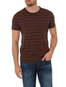 Jack & Jones Tonal Dark Stripe Crew Neck T-shirt