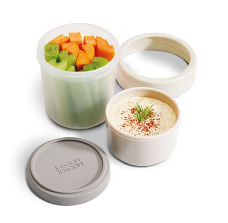 Joseph Joseph GoEat Compact 2-in-1 Snack Pot Grey